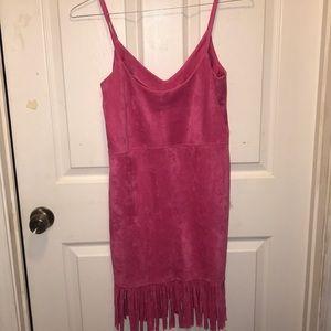 Gianni Bini Dresses - Gianni Bini Pink Velour Small Dress